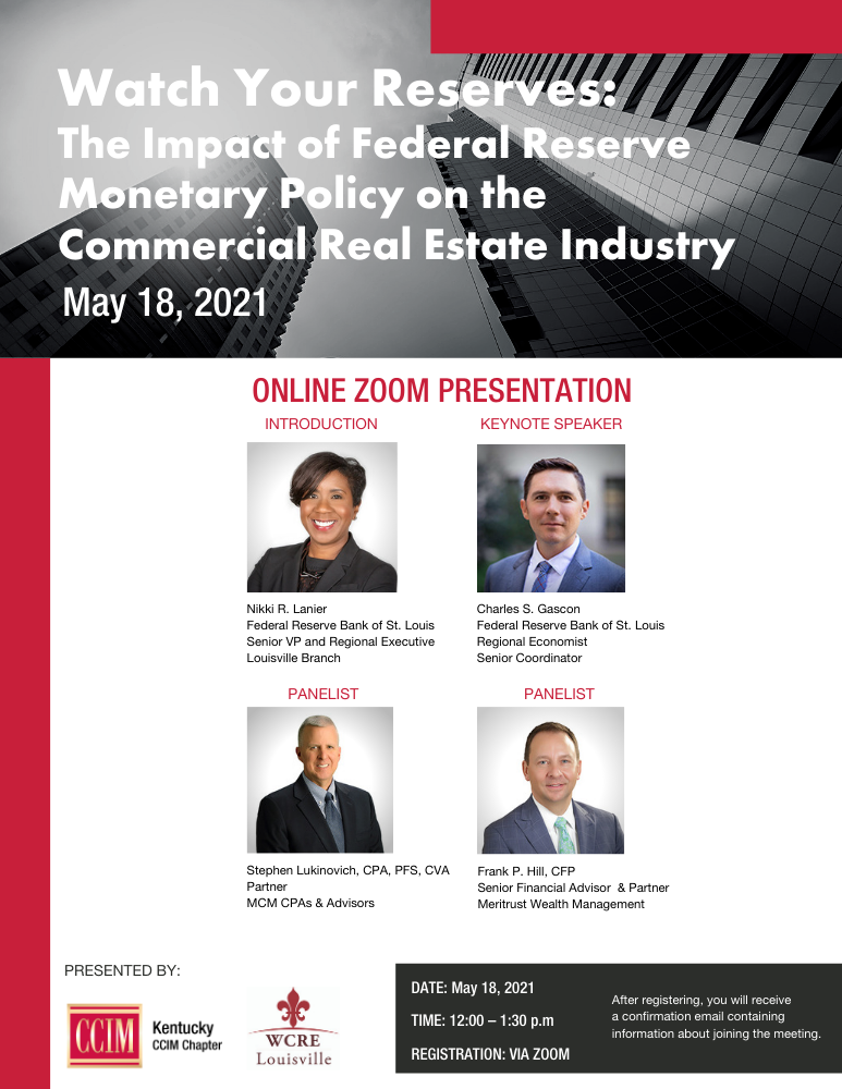 May 18th Zoom Presentation with CCIM
